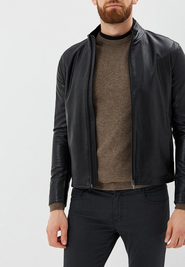 Купить Куртка кожаная Sisley, SI007EMBYWT8, черный, Осень-зима 2018/2019