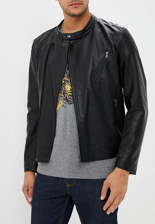 Купить Куртка кожаная Sisley, SI007EMBYWT9, черный, Осень-зима 2018/2019