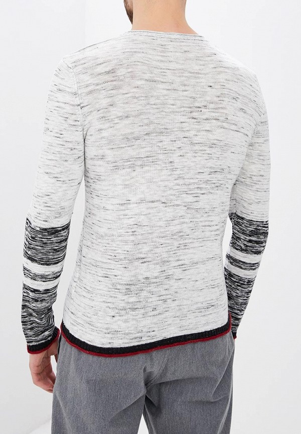 Фото 3 - мужское джемпер Sisley белого цвета