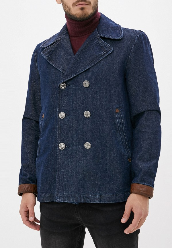 мужской пиджак sisley, синий