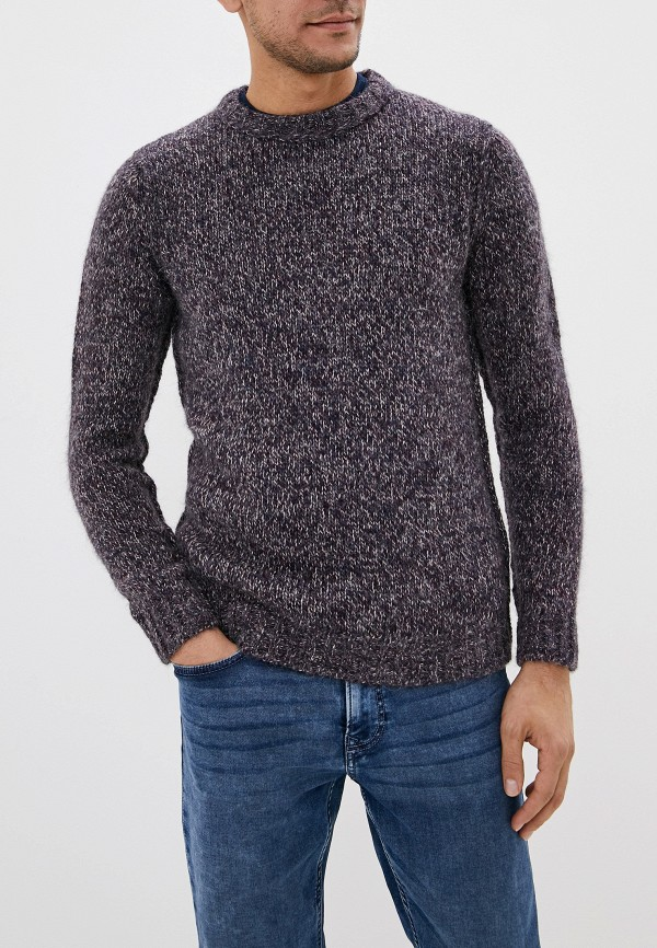мужской свитер sisley, бордовый