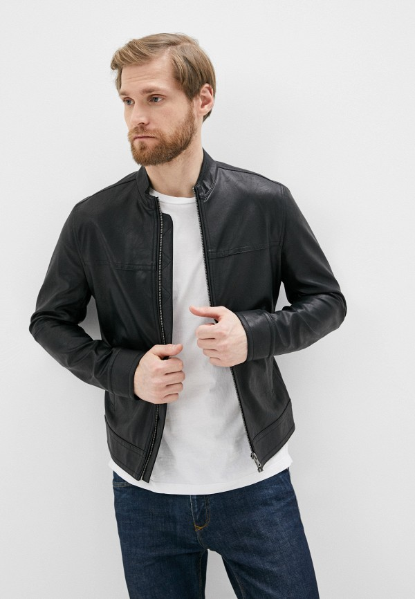 мужская куртка sisley, черная