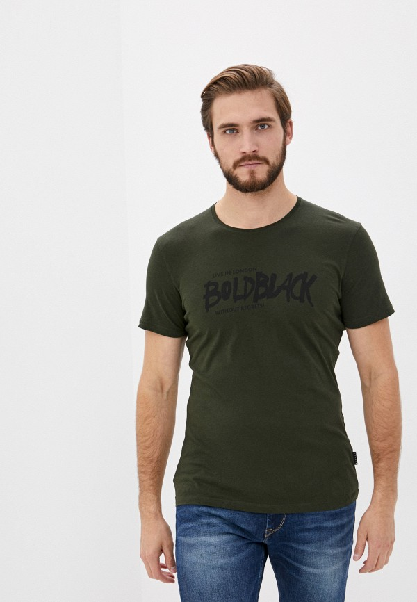 мужская футболка с коротким рукавом sisley, зеленая
