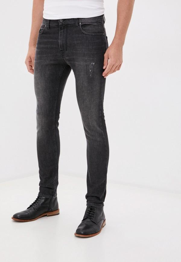 мужские зауженные джинсы sisley, серые