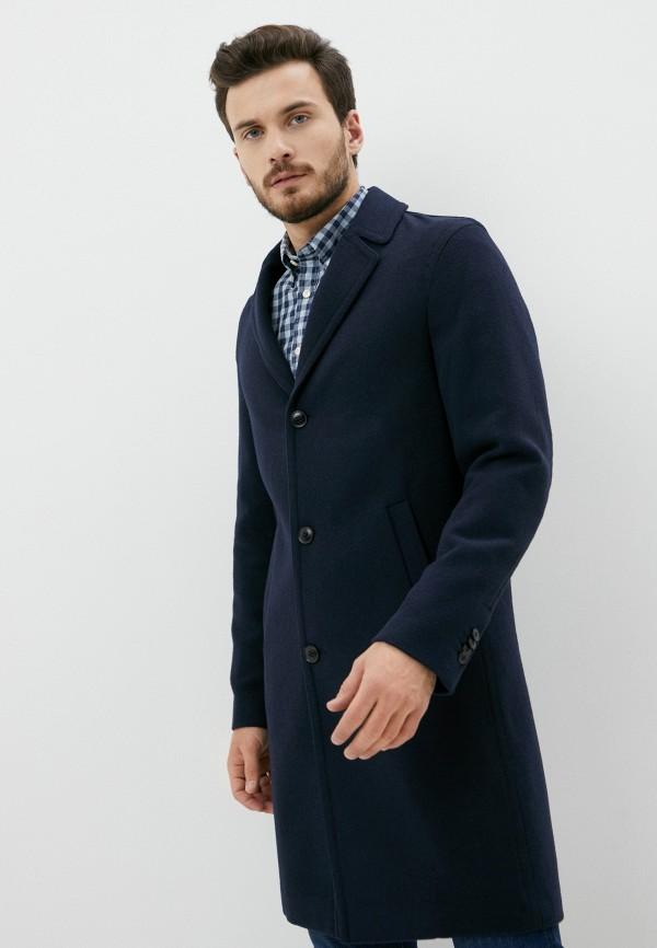 мужское пальто sisley, синее