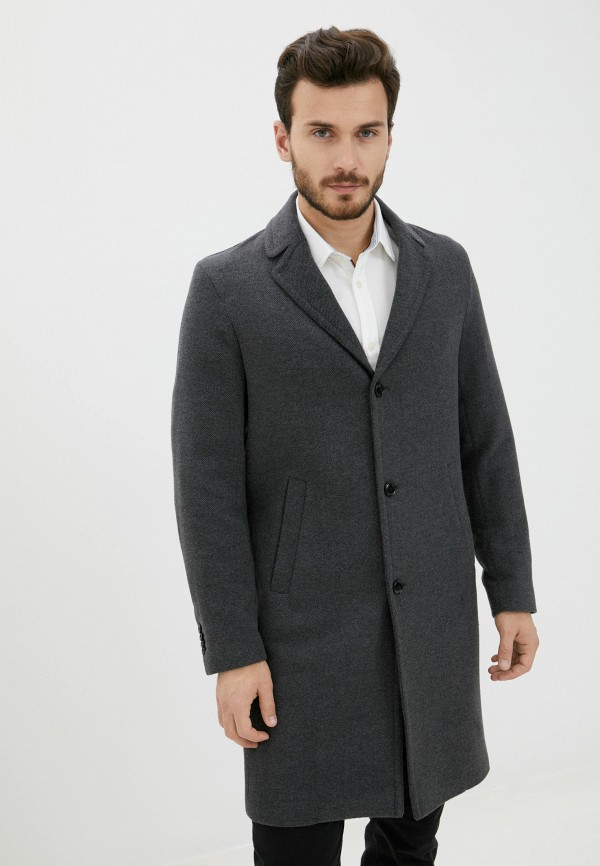 мужское пальто sisley, серое