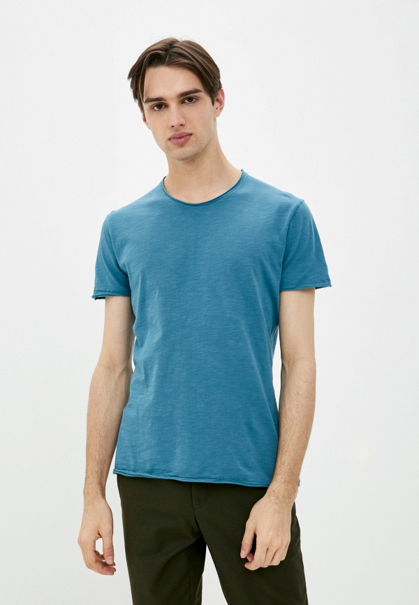 мужская футболка с коротким рукавом sisley, синяя