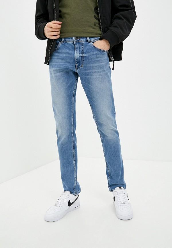 мужские зауженные джинсы sisley, голубые