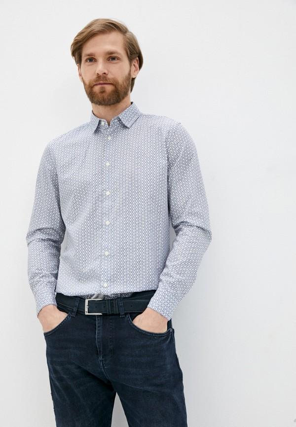 мужская рубашка sisley, синяя