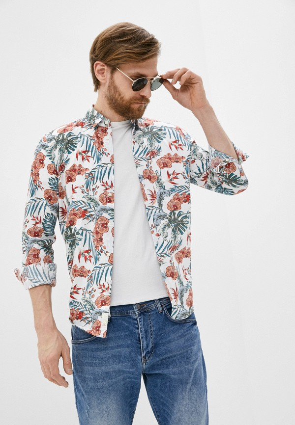 мужская рубашка с длинным рукавом sisley, разноцветная
