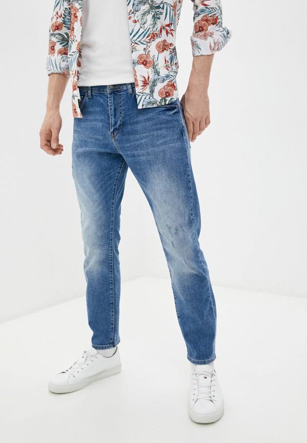 мужские зауженные джинсы sisley, синие