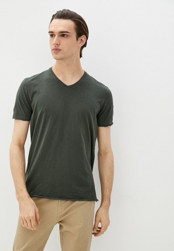 мужская футболка с коротким рукавом sisley, хаки