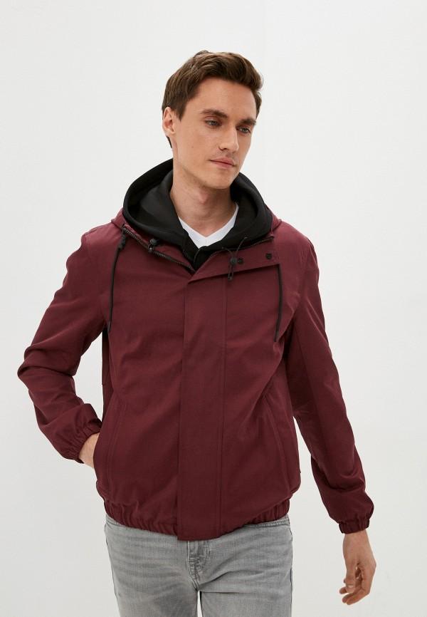 мужская куртка sisley, бордовая