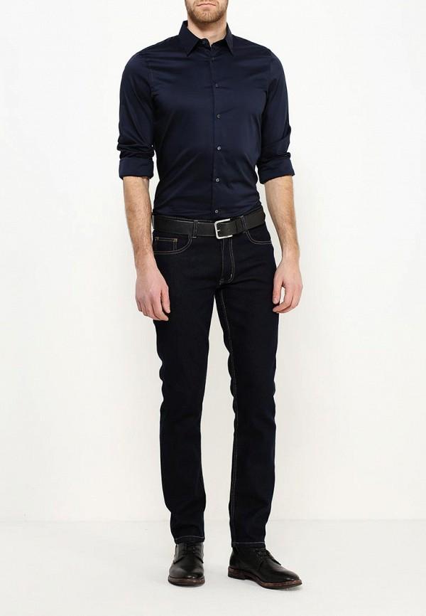 Фото 2 - мужскую рубашку Sisley синего цвета