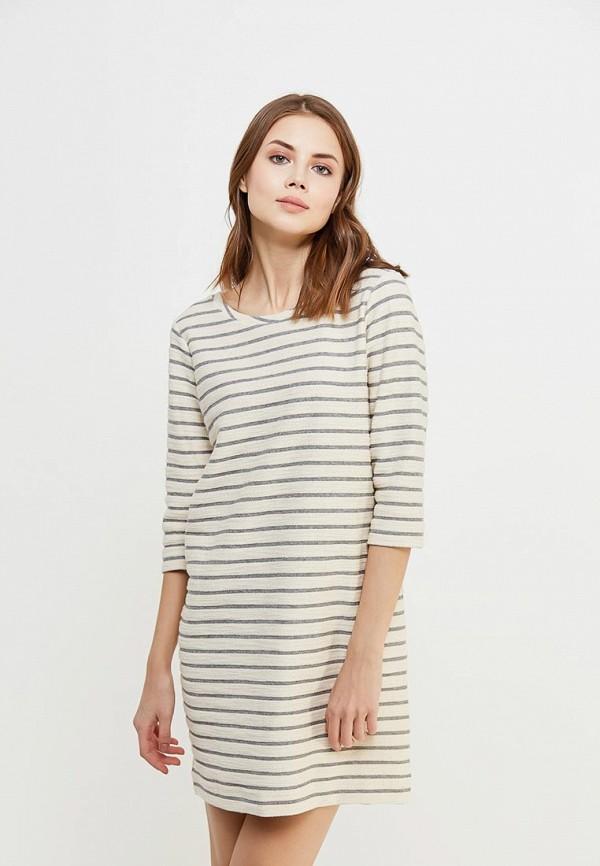 Платье Sisley, SI007EWAGGL5, бежевый, Весна-лето 2018  - купить со скидкой