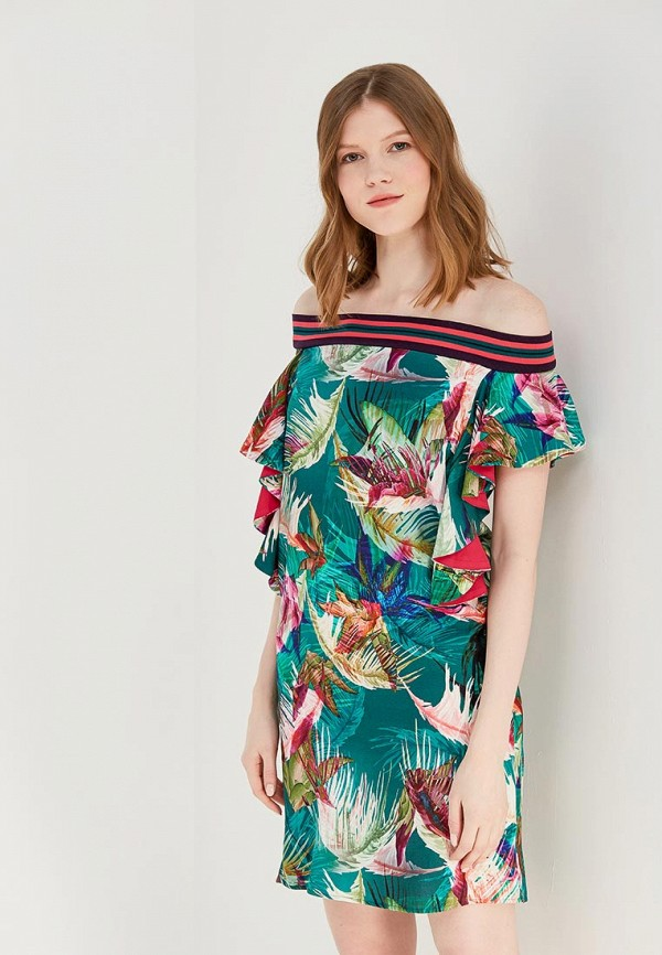 Купить Платье Sisley, SI007EWAGGO6, зеленый, Весна-лето 2018