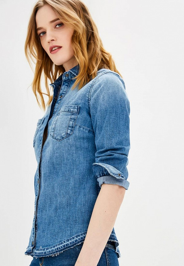 Рубашка джинсовая Sisley Sisley SI007EWAGGP8 рубашка sisley sisley si007ewwlt47