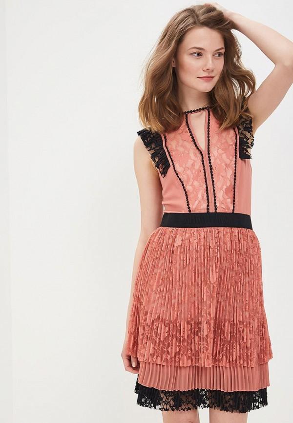 Купить Платье Sisley, si007ewartq5, коралловый, Весна-лето 2018