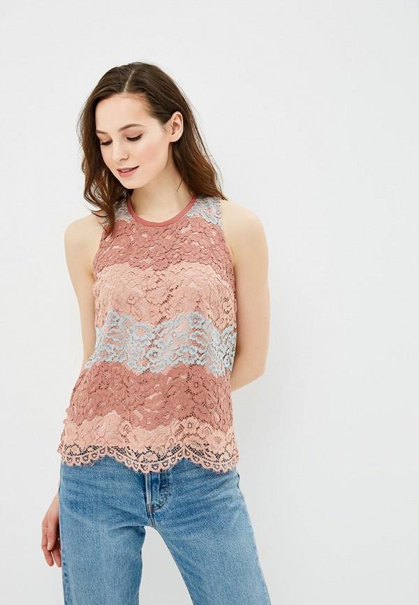 Купить Топ Sisley, SI007EWARTU9, розовый, Весна-лето 2018