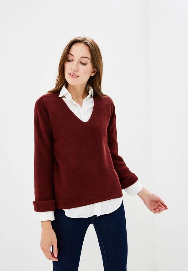 женский пуловер sisley, бордовый