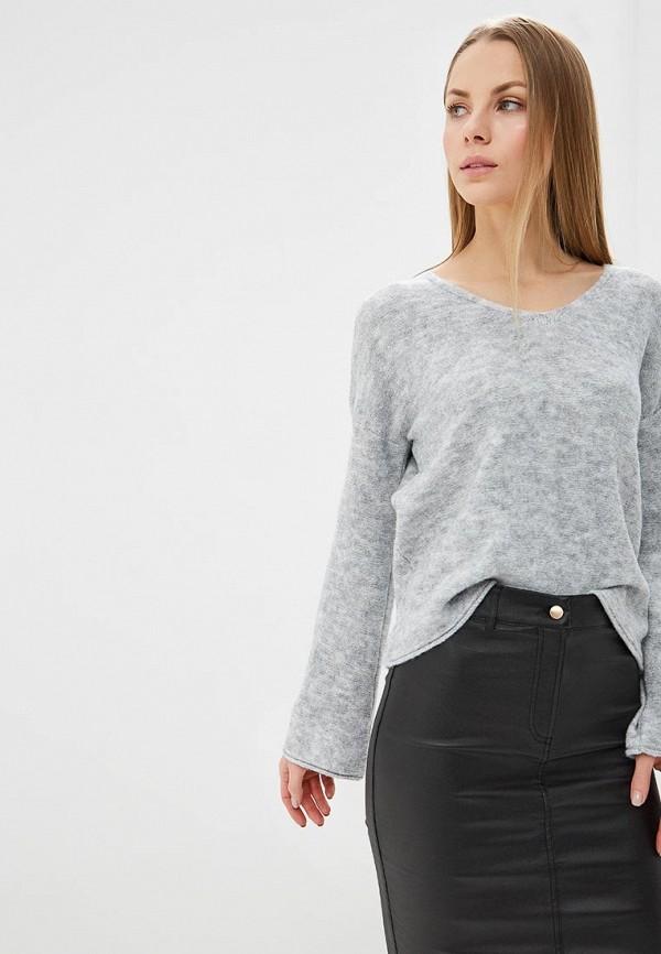 Фото 4 - женский пуловер Sisley серого цвета
