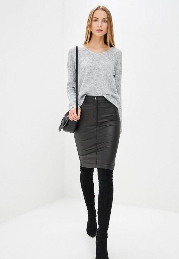Фото 5 - женский пуловер Sisley серого цвета