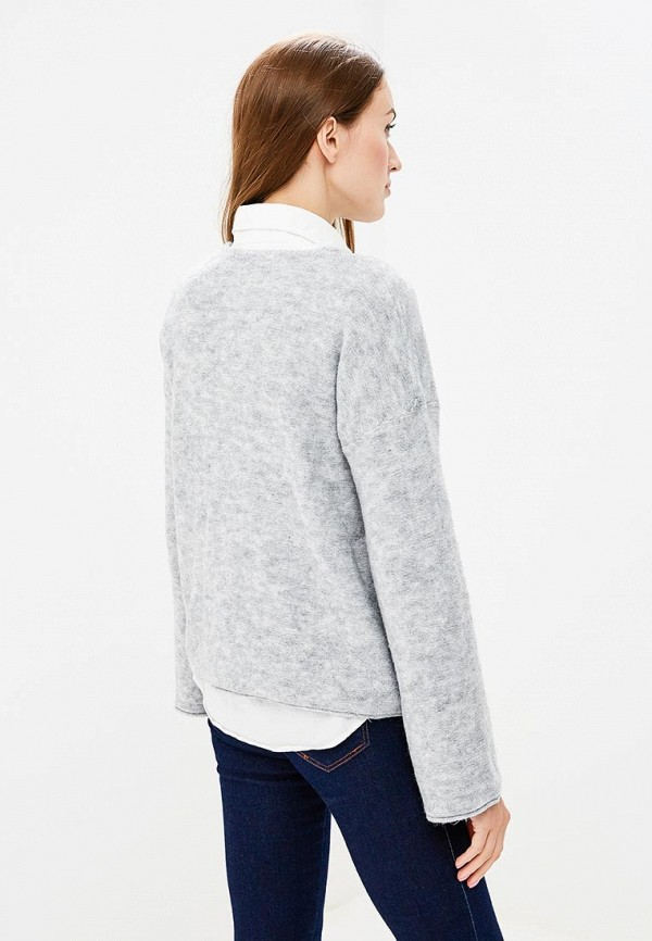 Фото 3 - женский пуловер Sisley серого цвета