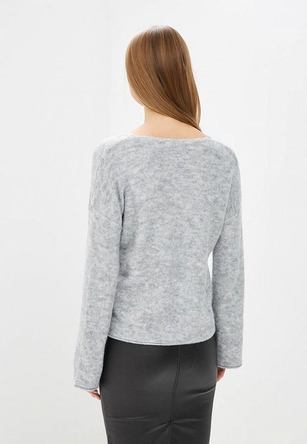 Фото 6 - женский пуловер Sisley серого цвета