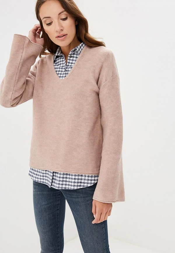 Купить Пуловер Sisley, SI007EWCCMQ6, розовый, Осень-зима 2018/2019