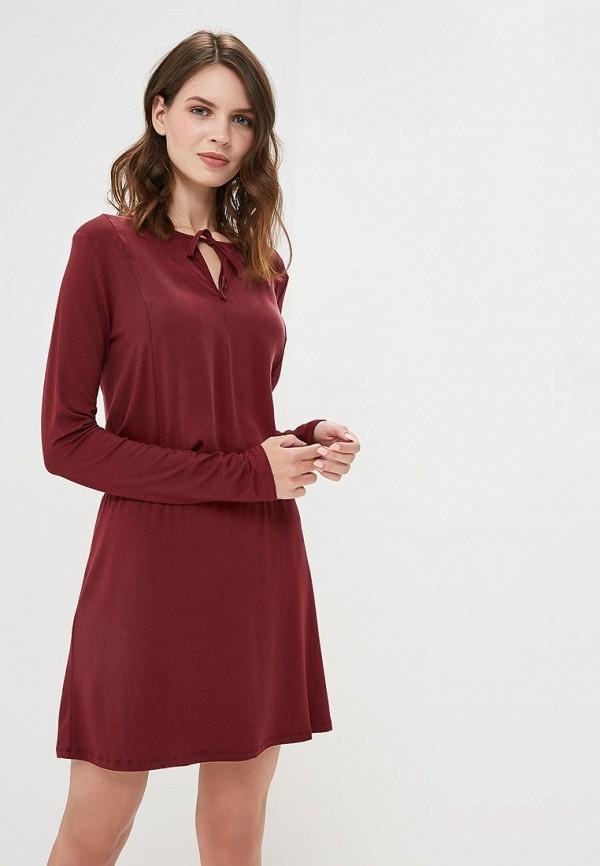 женское повседневные платье sisley, бордовое