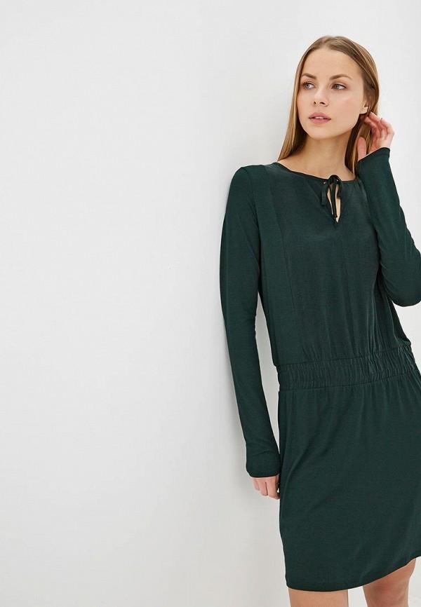 женское повседневные платье sisley, зеленое
