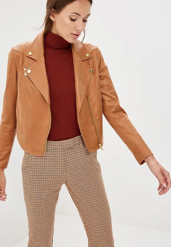 Купить Куртка кожаная Sisley, si007ewccni8, коричневый, Осень-зима 2018/2019