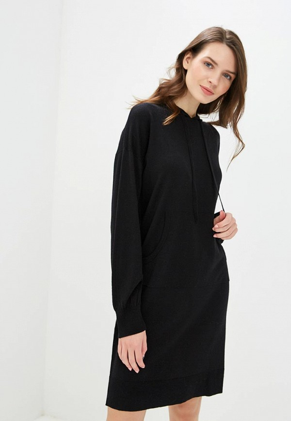 Купить женское платье Sisley черного цвета