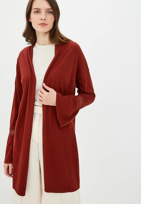 женский кардиган sisley, красный