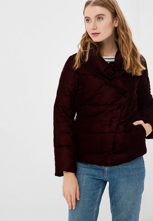женская куртка sisley, бордовая