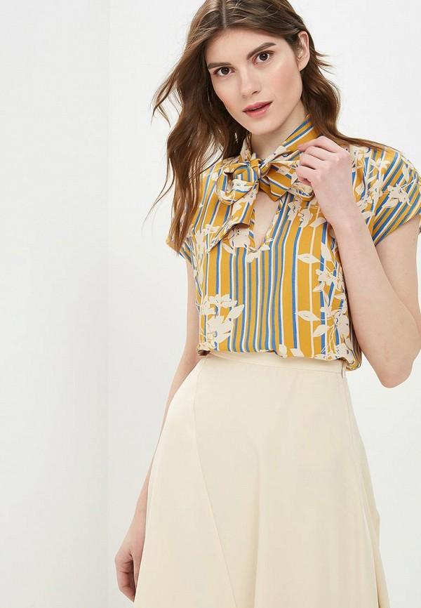женская блузка sisley, желтая