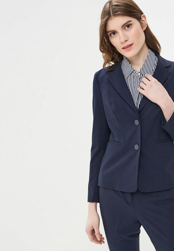 женский пиджак sisley, синий