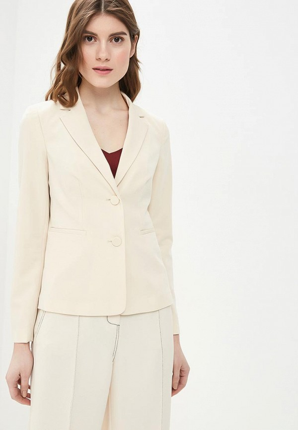 женский пиджак sisley, бежевый