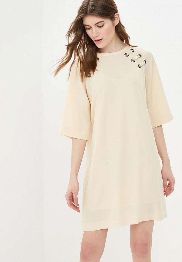 женское повседневные платье sisley, бежевое
