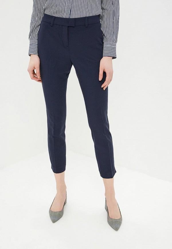 женские классические брюки sisley, синие