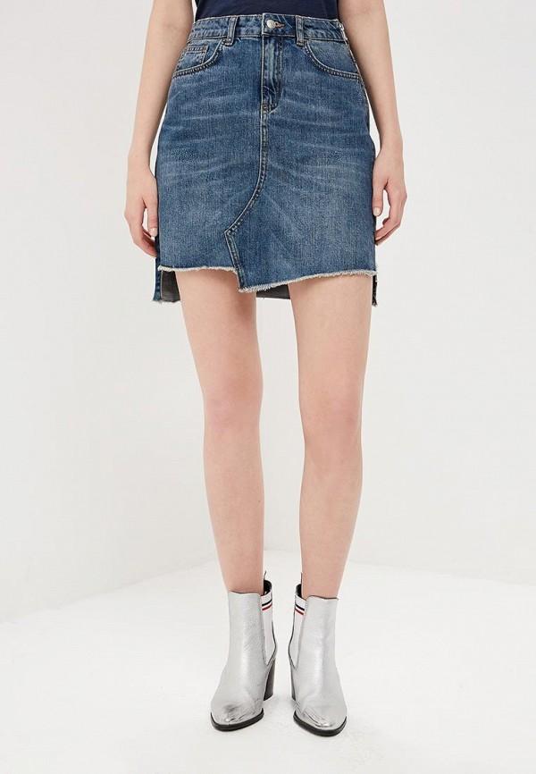 Юбка джинсовая Sisley Sisley SI007EWDWXZ7 юбка sisley sisley si007ewartt1