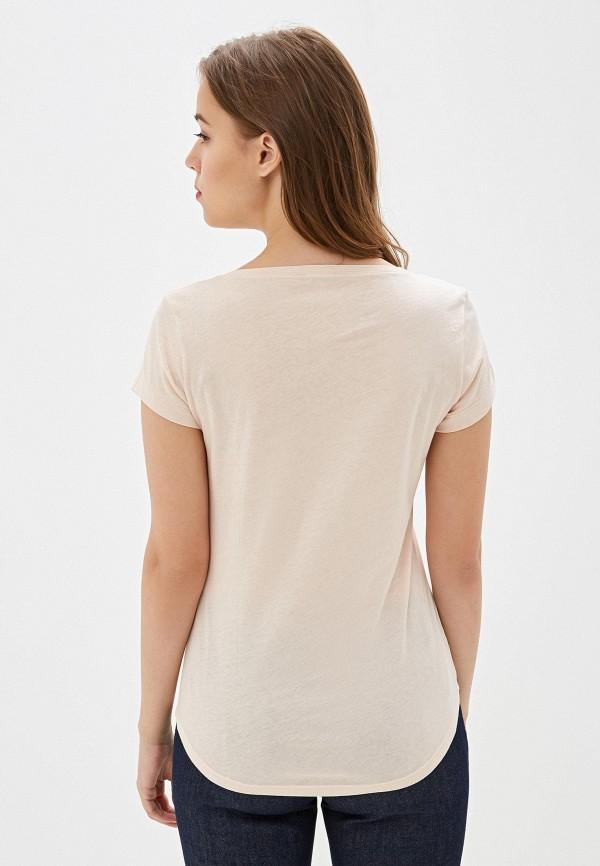 Фото 3 - Женскую футболку Sisley розового цвета