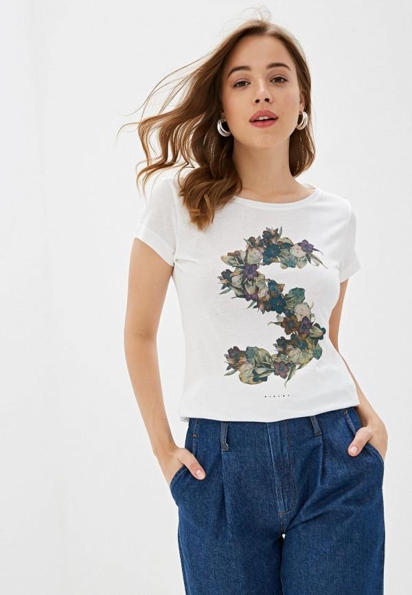 Фото - Женскую футболку Sisley белого цвета