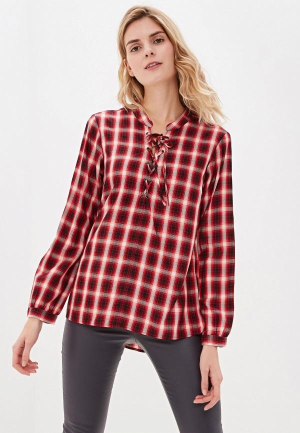 женская блузка sisley, красная