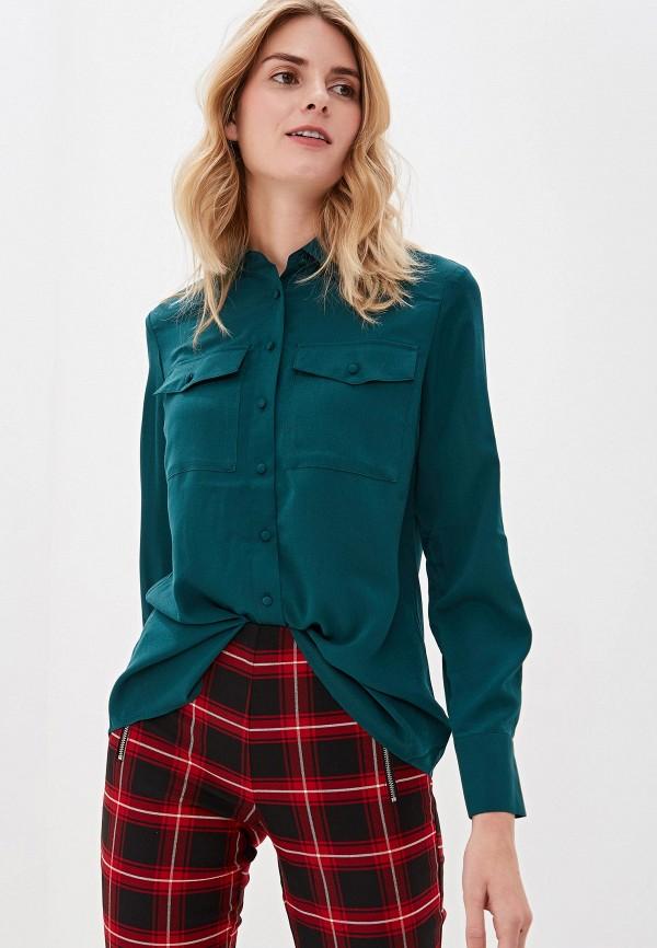 женская блузка sisley, зеленая