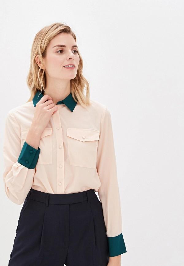 женская блузка sisley, розовая