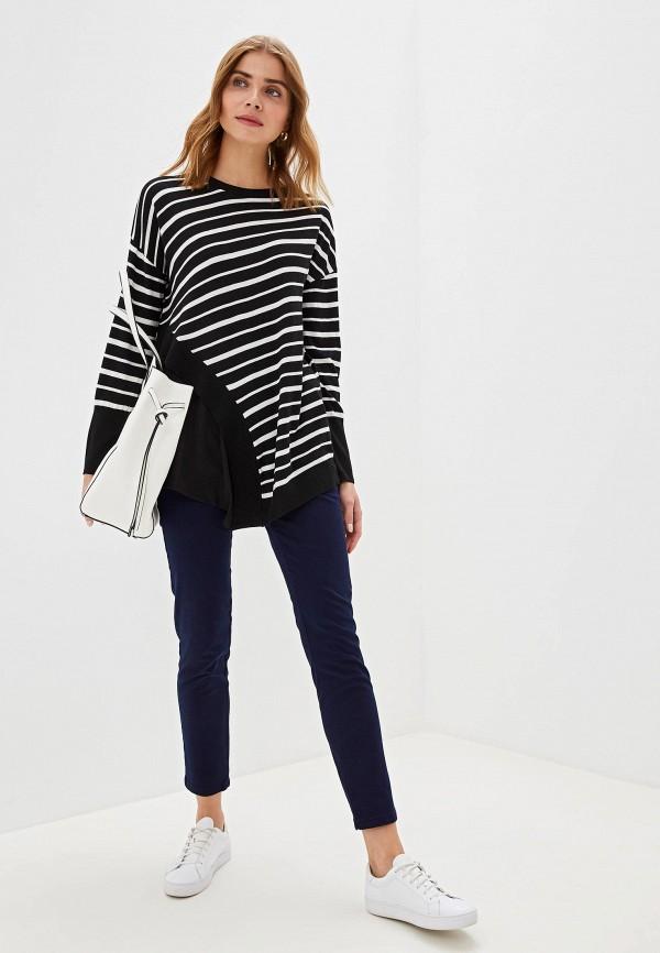 Фото 2 - женские брюки Sisley синего цвета