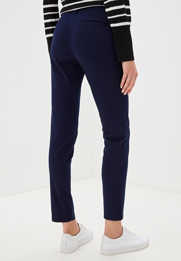 Фото 3 - женские брюки Sisley синего цвета