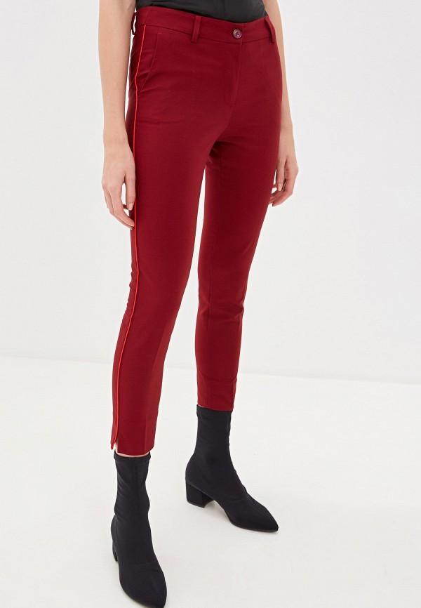 женские повседневные брюки sisley, бордовые