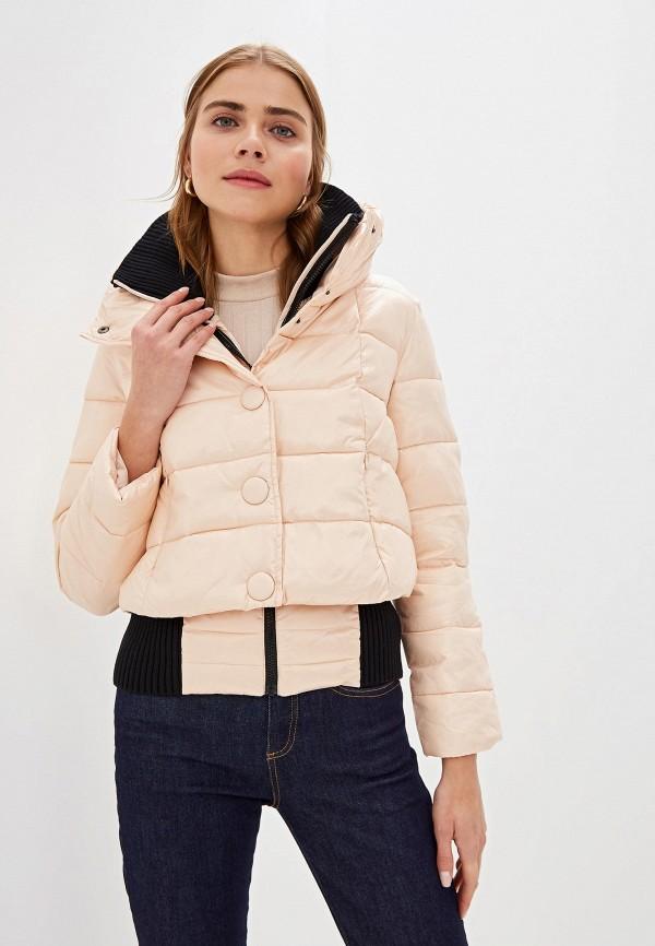 Фото - Куртку утепленная Sisley розового цвета